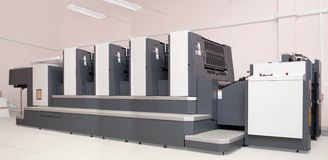 Four-section offset printed machine Royalty Free Stock Image