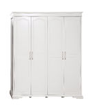 Four-section wardrobe over white, with path Royalty Free Stock Photography