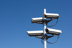 Four security cameras Stock Images
