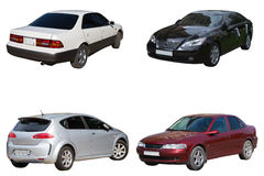Four sedans Stock Photography