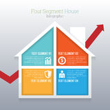 Four Segment House Infographic Royalty Free Stock Photos