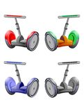 Four Segways Royalty Free Stock Photos