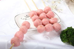 Four series of shrimp meatballs Stock Photos