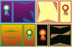 Four set of color serpentine border Royalty Free Stock Photo