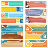 Four sets of three elements of infographic design. Step by step infographic design template. Vector illustration Stock Image