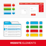 Four sets of web elements for website and mobile applications. Vector Stock Photo