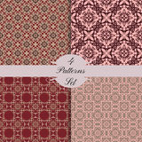 Four shabby seamless patterns Stock Images