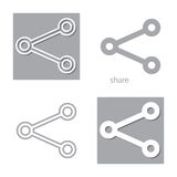 Four share. New set of share sign icons. vector web design Stock Photos