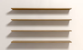 Four Shelves On A Wall Royalty Free Stock Images