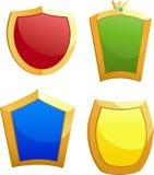 Four shields stock photo