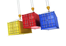Four shipping containers Royalty Free Stock Photo