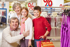 Four shoppers Stock Photography