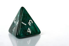Four Sided Dice. On white background royalty free stock photo