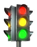 Four sided traffic light Royalty Free Stock Images