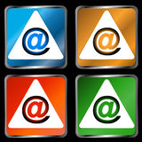Four signs email Royalty Free Stock Images