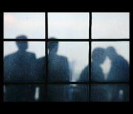 Four silhouettes Royalty Free Stock Photography
