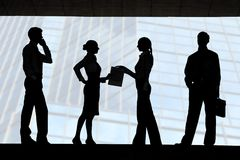 Four silhouettes Stock Images