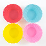 The four of silicone baking cups Royalty Free Stock Image