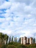 The Four Silos Stock Images