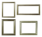 Four silver frame on white Royalty Free Stock Photo