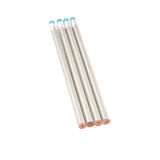 Four silver pencils  isolated on white Stock Image
