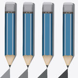 Four simple pencil Stock Photos