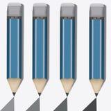 Four simple pencil. Different stiffness Stock Photos