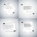 Four Simple Quote Templates Stock Photography