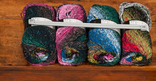 Four skeins of colorful yarn Royalty Free Stock Images