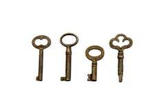 Four Skeleton Keys Stock Photos