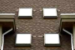 Four Skylights on a Roof Top Stock Images