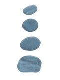 Four slate stones isolated on white Stock Photos