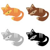 Four sleeping cats. On white background Royalty Free Stock Image