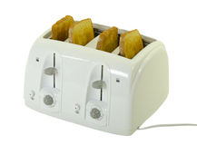 Four Slice Toaster With Bread Stock Photos