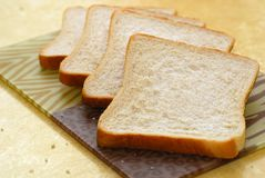 Four slices of bread Royalty Free Stock Image