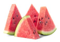 Four slices of ripe watermelon royalty free stock photo