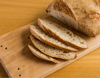 Four Slide and a piece of Bread made in. DiY Course by Monicakes Royalty Free Stock Images