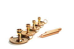 Four small candlesticks Stock Photography