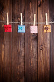 Four small gift boxes Royalty Free Stock Image
