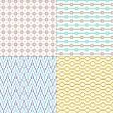 Small pastel geometric vector patterns. Four small pastel geometric vector patterns stock illustration