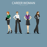 Four smart and fashionable career woman Stock Photography