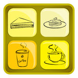 Four snack icons Royalty Free Stock Photo