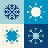 Four snowflakes Stock Image