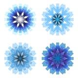 Four snowflakes Royalty Free Stock Image