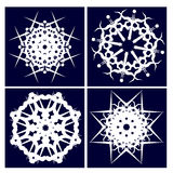 Four snowflakes Royalty Free Stock Photo