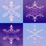Four Snowflakes Christmas Background Royalty Free Stock Photos