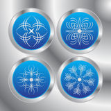 Four snowflakes Stock Photo