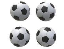 Four Soccer balls. Isolated on white background stock image