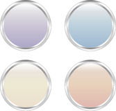 Four soft-colored web buttons Royalty Free Stock Photo