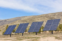 Four Solar Panels Stock Image